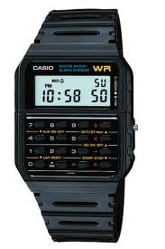 Digital watch with calculator